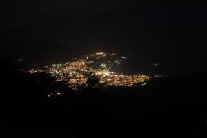 Вид на ночную Ялту