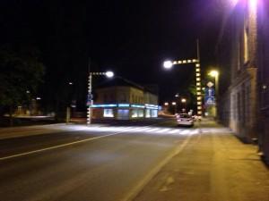Пешеходный переход с подсветкой
