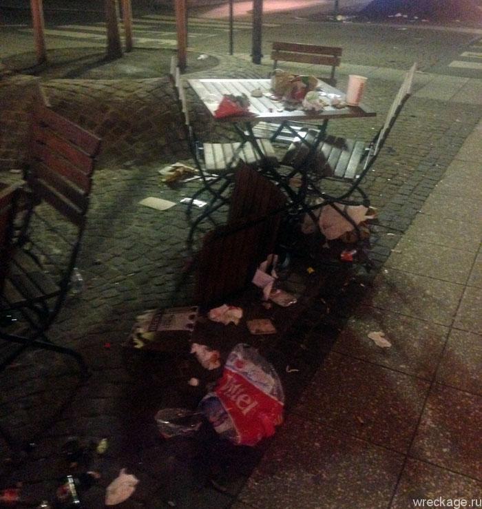 мусор после нового года франкфурт