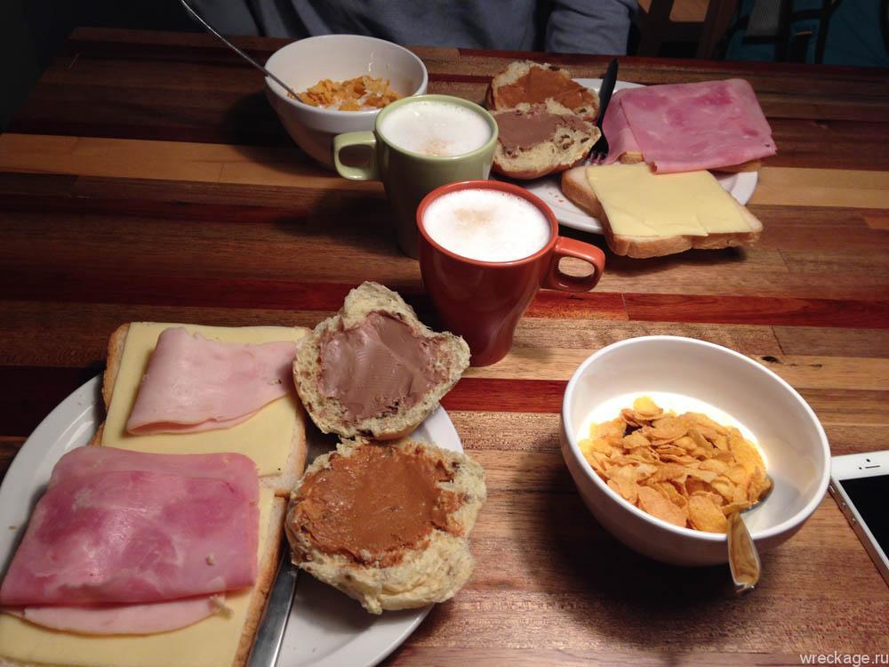 Завтракв хостеле