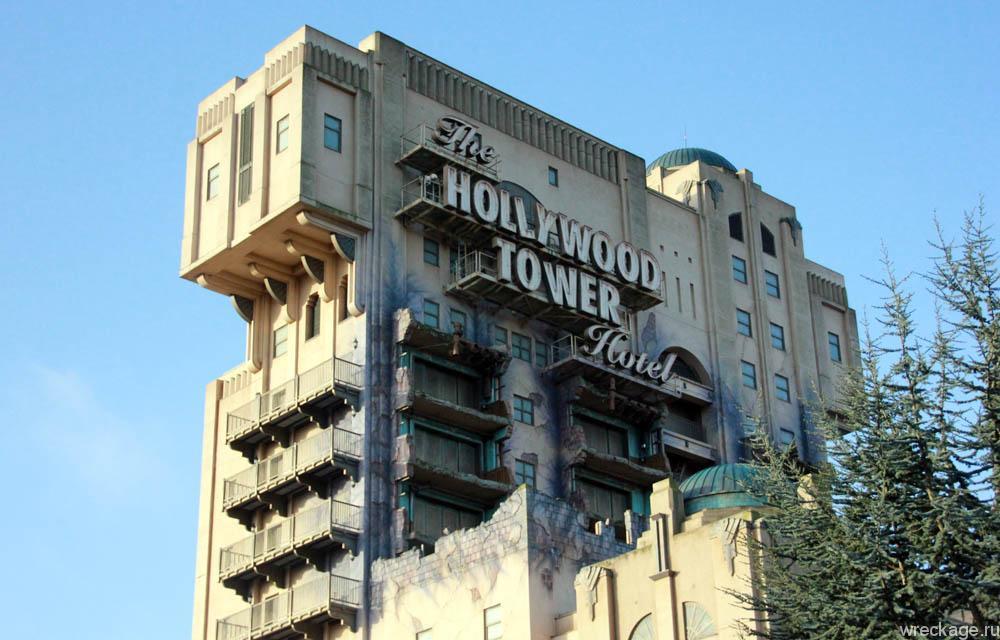 аттракцион hollywood tower