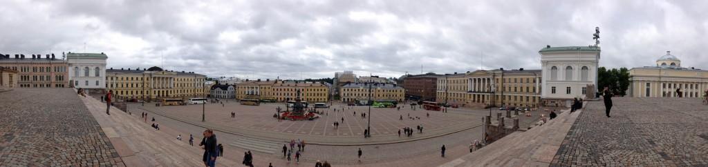 панорама сенатской площади города хельсинки
