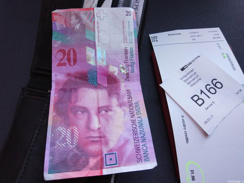 деньги швейцарии