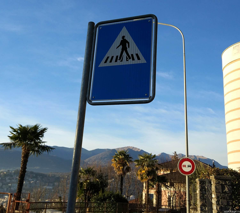 пещеходный знак швейцария