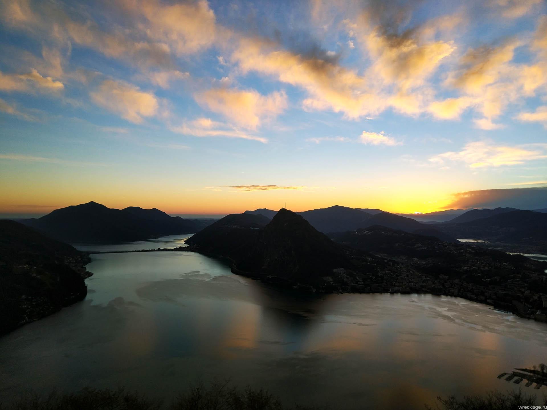 Вид с монте бре на лугано