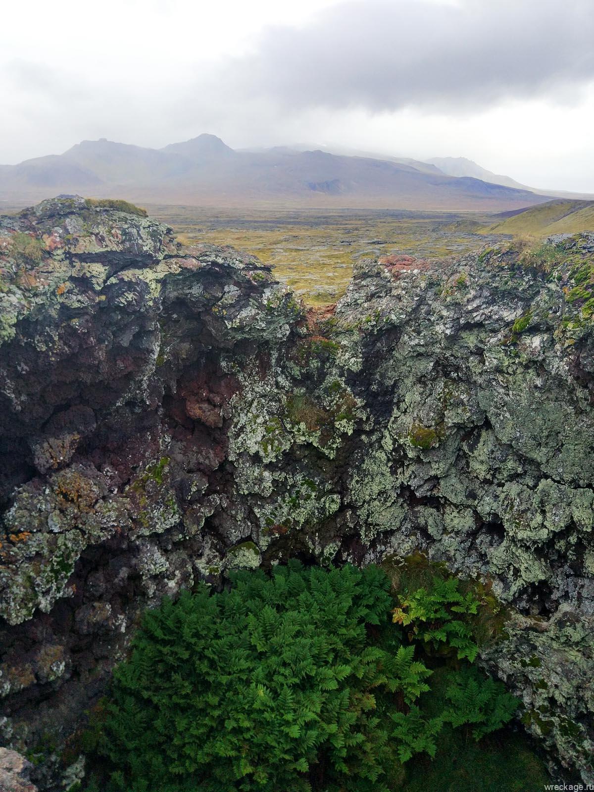 кратер вулкана исландия