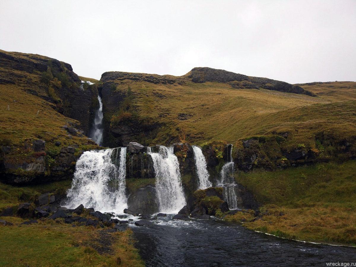 Водопад Меркьярфосс (Merkjárfoss)