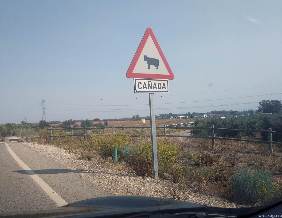 знак дорожный канада испания