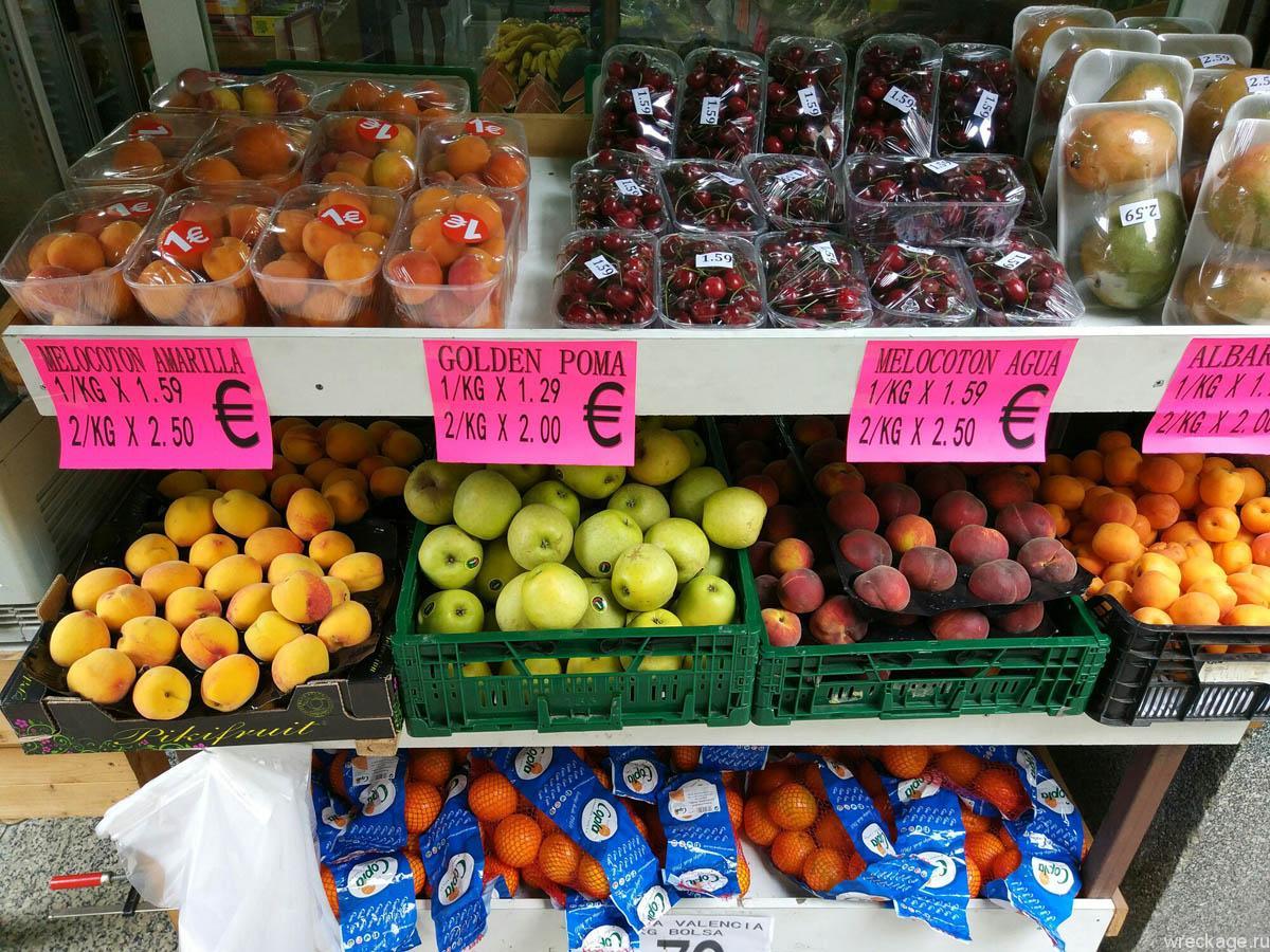 фрукты испания