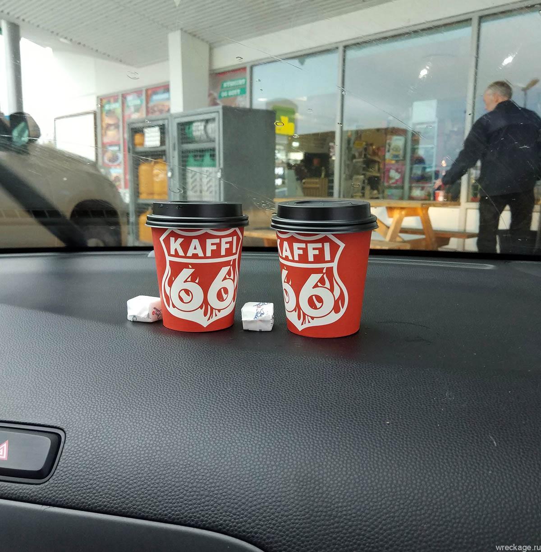 кофе на заправке в исландии