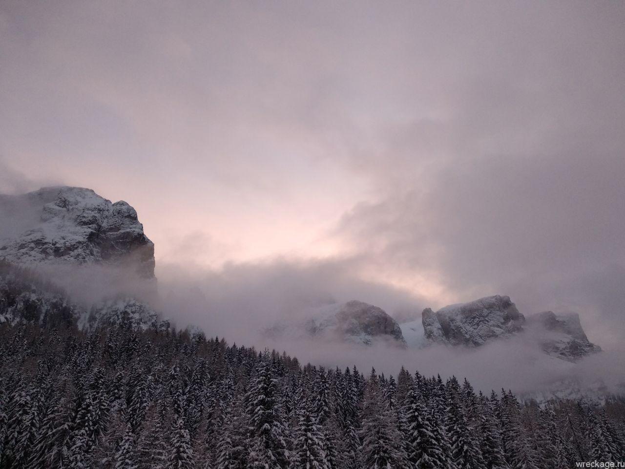 доломитовые альпы закат