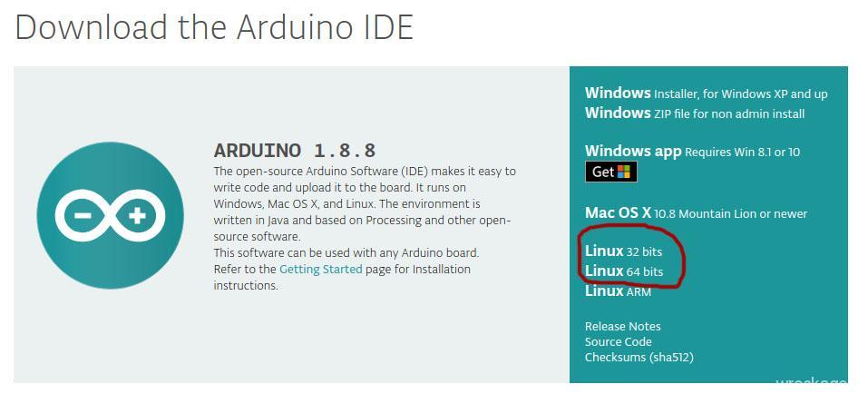 Установка Arduino IDE на Ubuntu 18