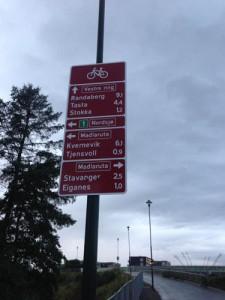Велосипедный знак в ставангере