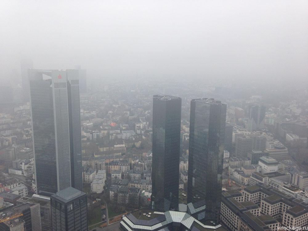 Вид с высотки фарнкфурт майнтауэр
