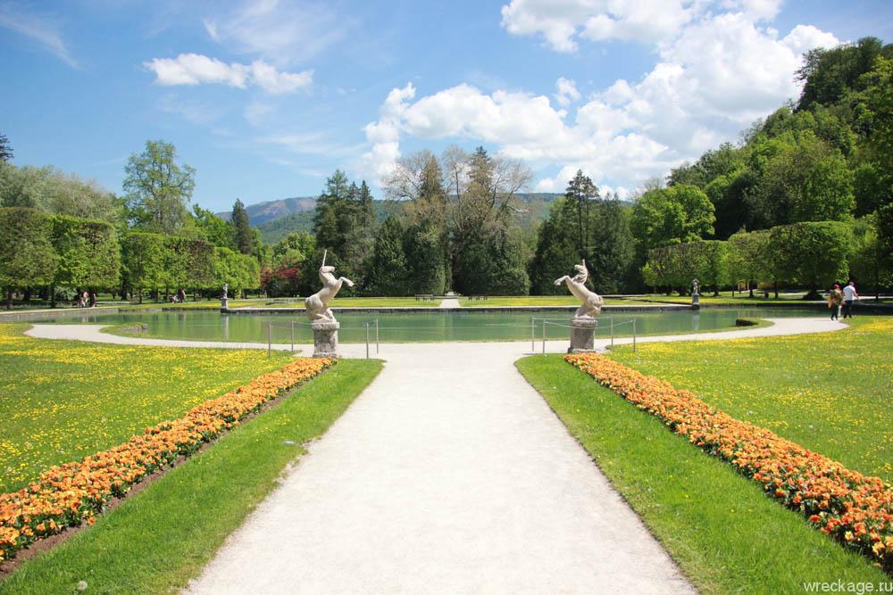 Хелбрунн потешные фонтан