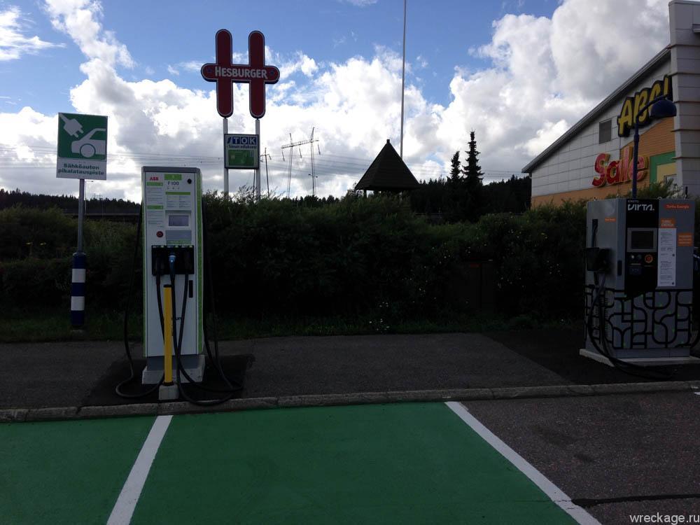 заправка для обычных электромобилей