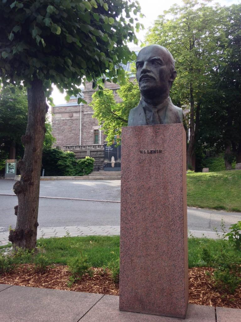 памятник Ленину в городе Турку Финляндия