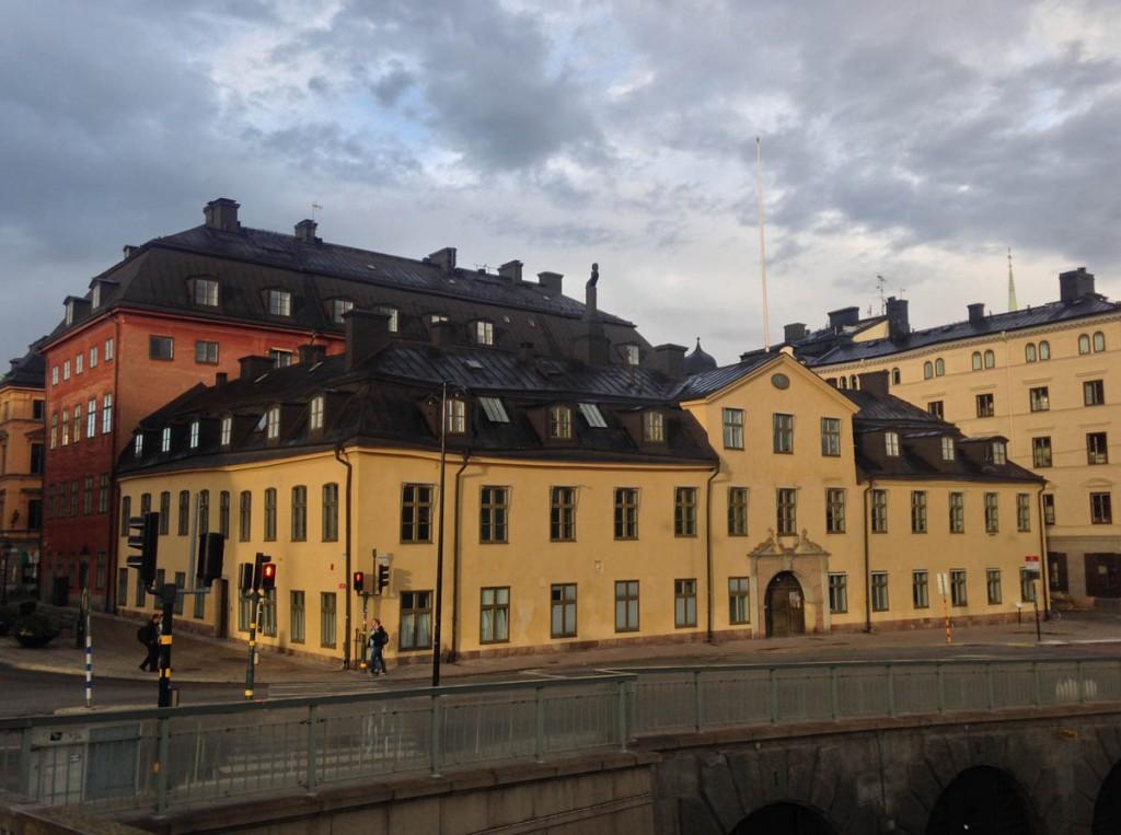 Плавающий дом в городе Стокгольм