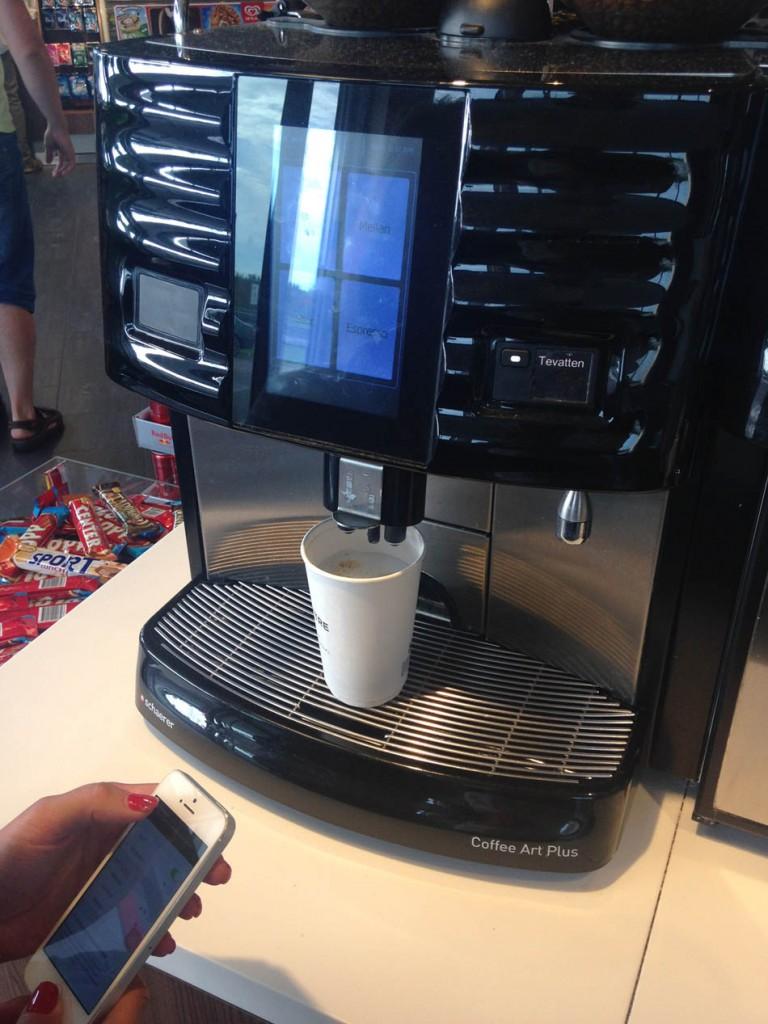 кофейный аппарат в швеции