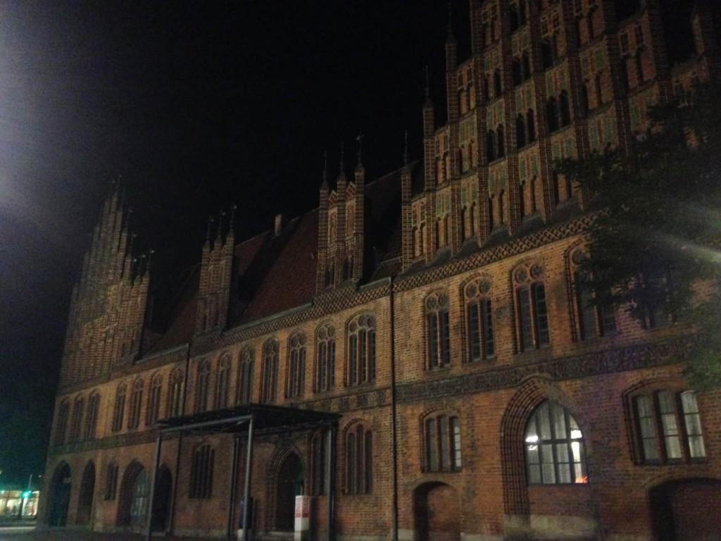 Ганновер центр ночью