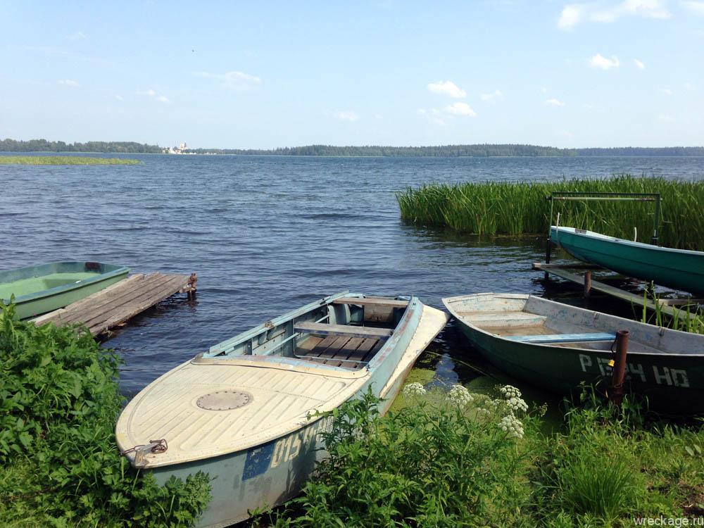 Озеро Валдай по пути в Питер