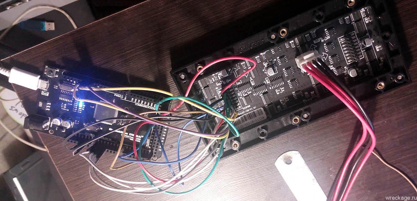 Управляем элементом бегущей строки Adafruit с Arduino. Часть 1. Подключение