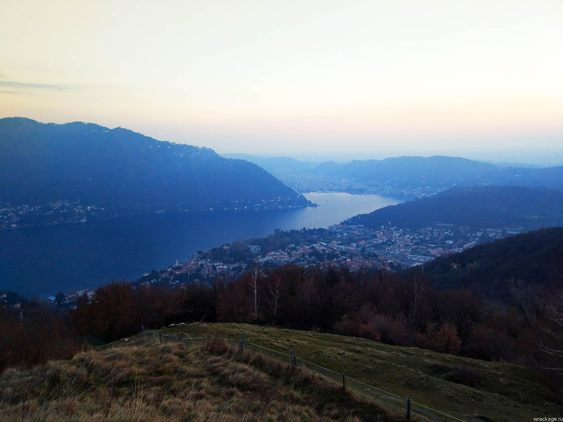 Вид на озеро Комо чернобио