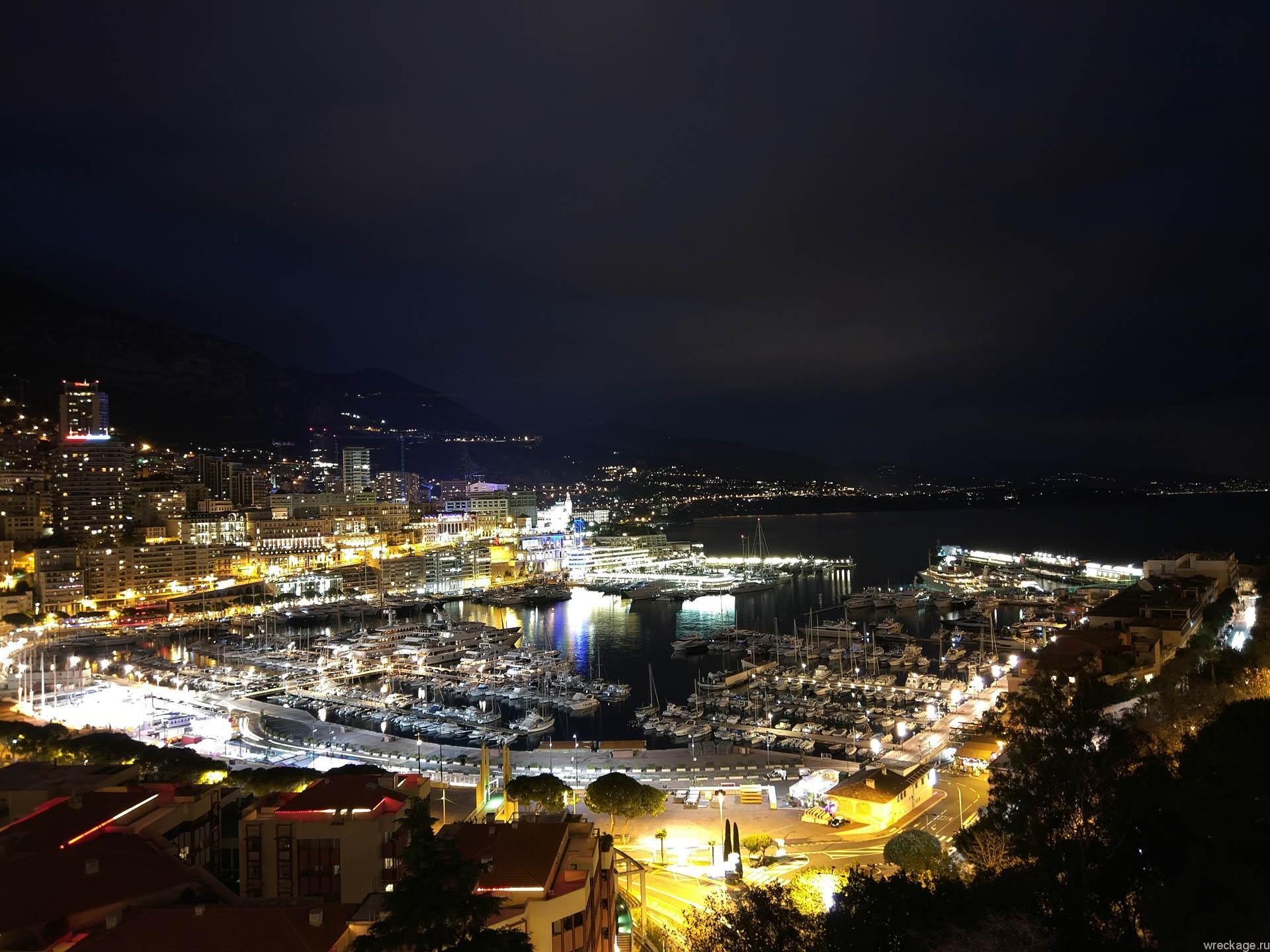ночной монако вид