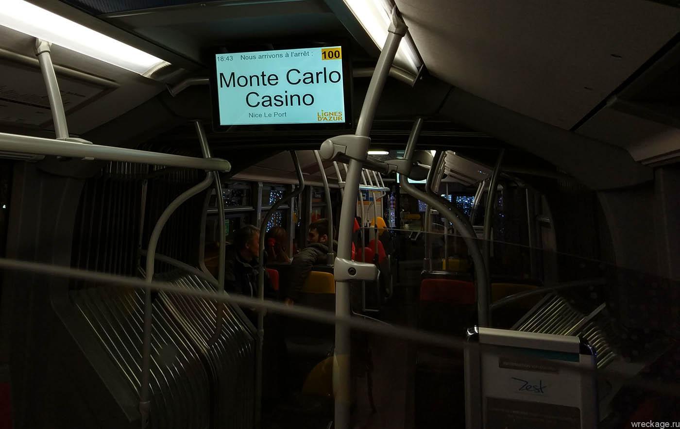 автобус монте карло ницца №100