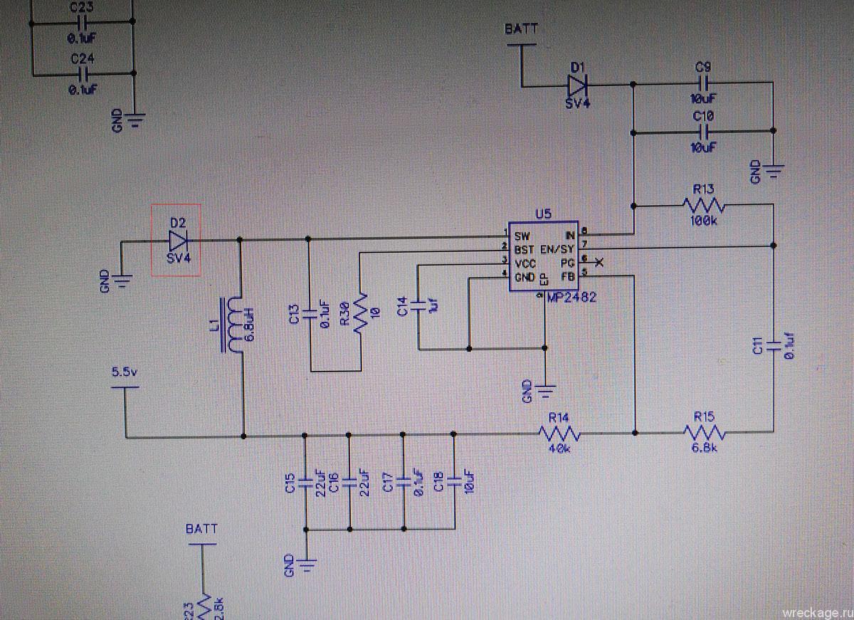 PCB схема фантом 2 питание
