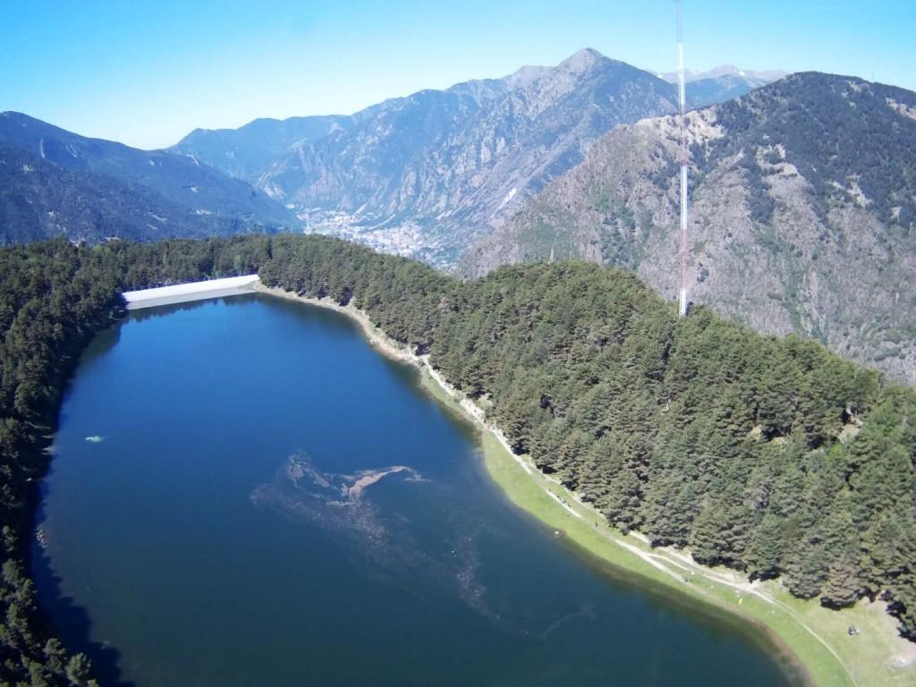 Озеро Энголастер с квадрокоптера. Engolaster lake