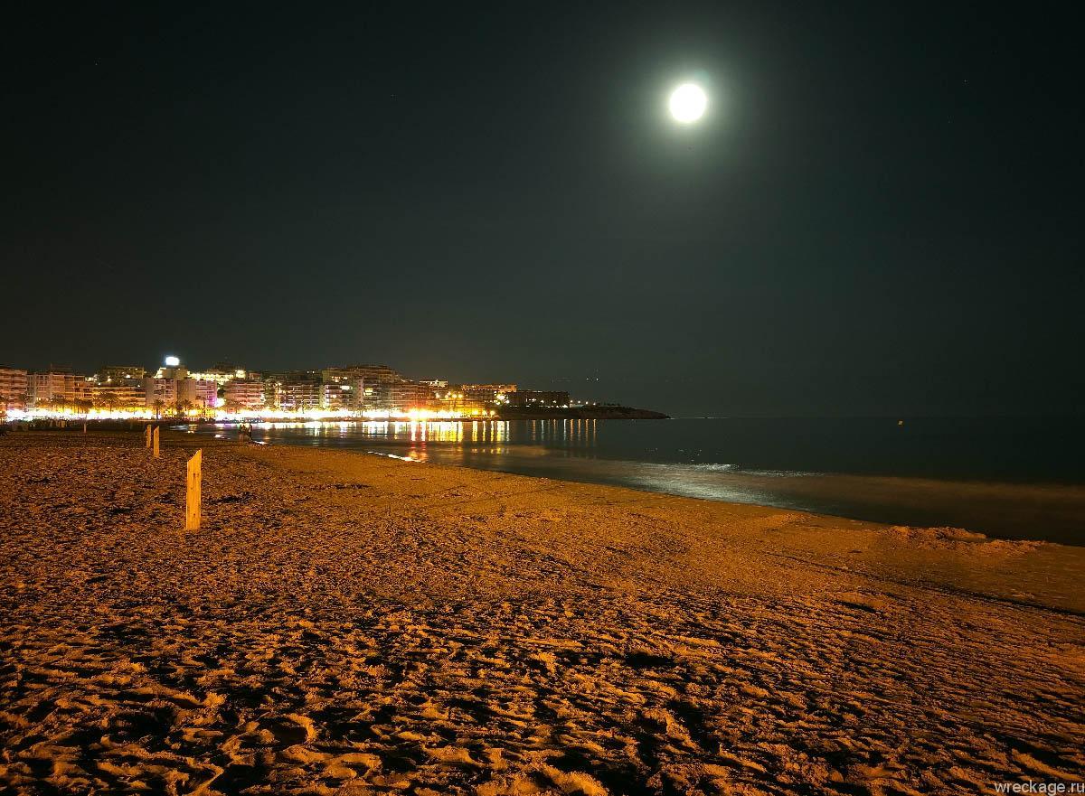 пляж салоу ночью
