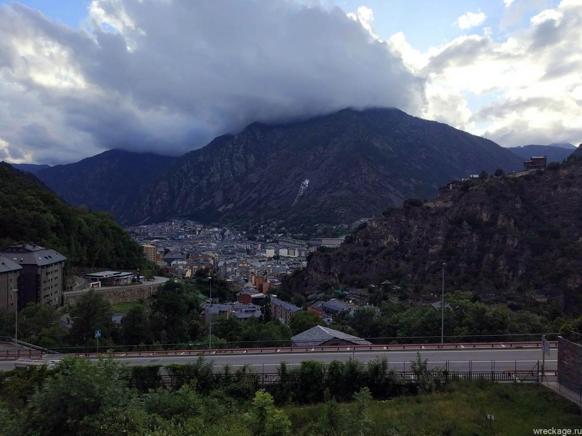 андорра вид на гору