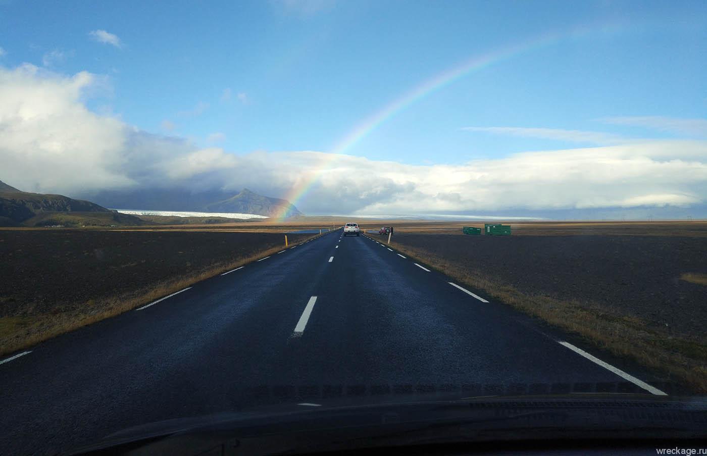 дорога к лагуне в исландии