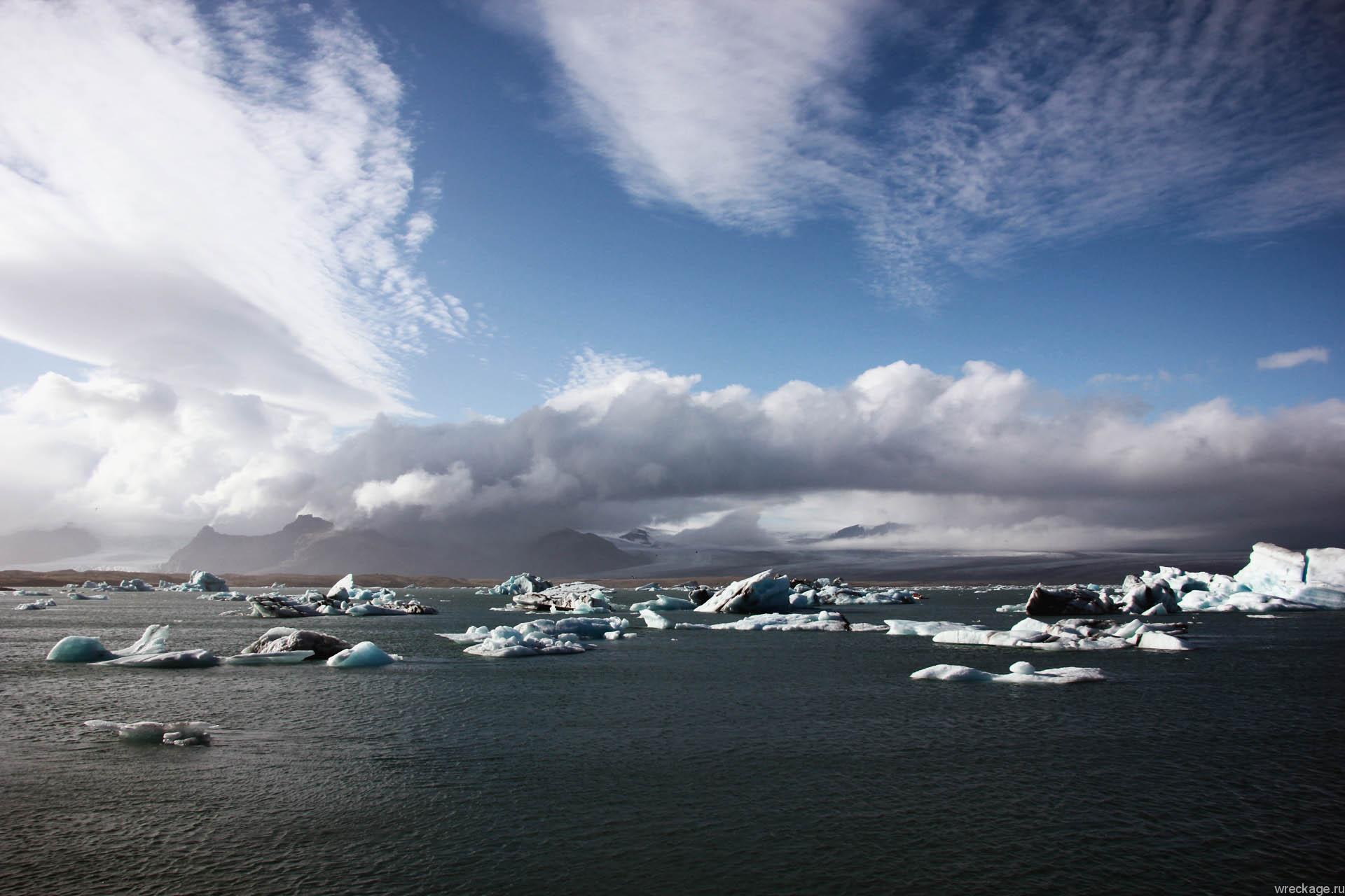 Йёкюльсаурлоун (исл. Jökulsárlón) ледники