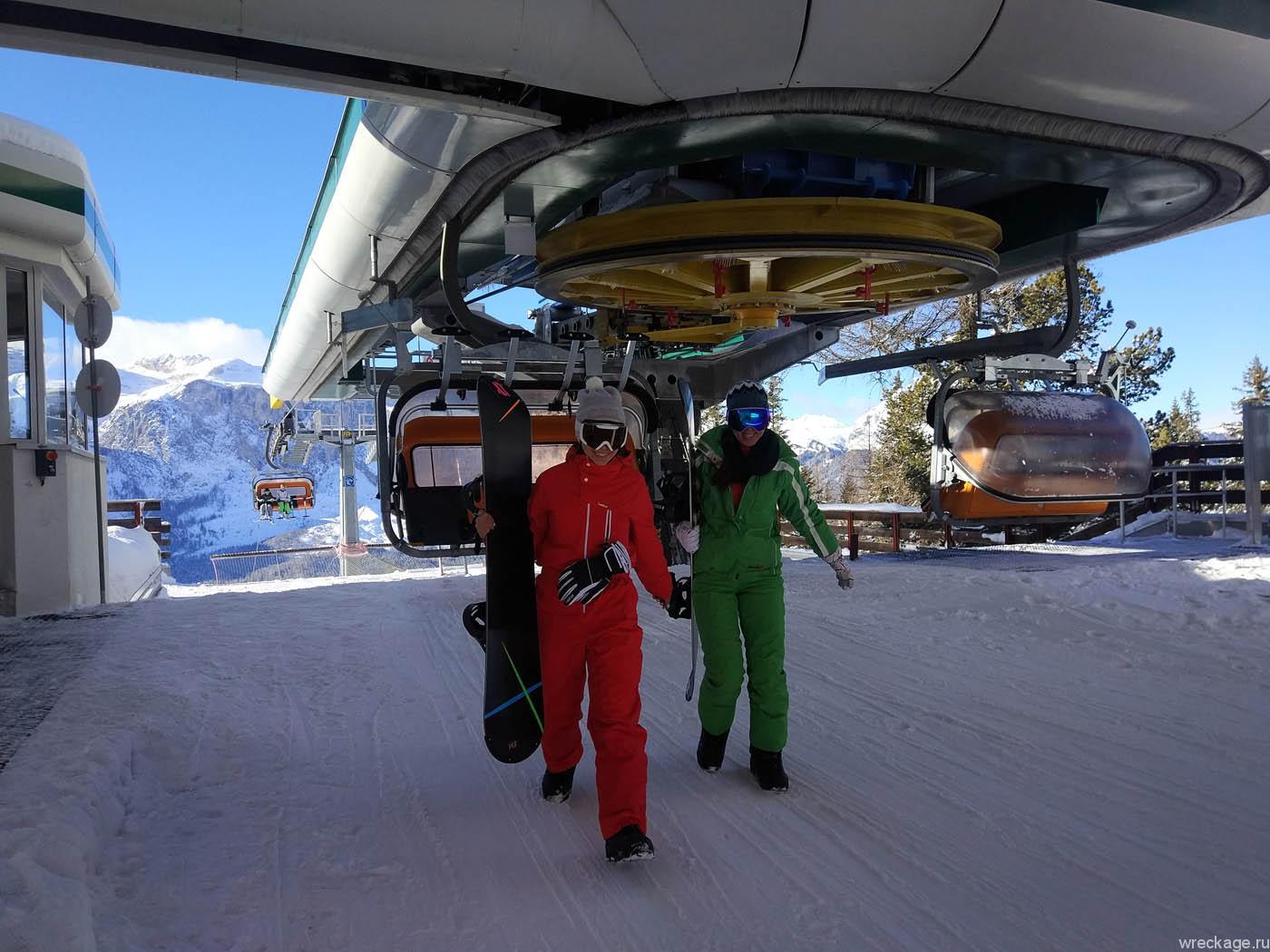 горнолыжный курорт альпы италия