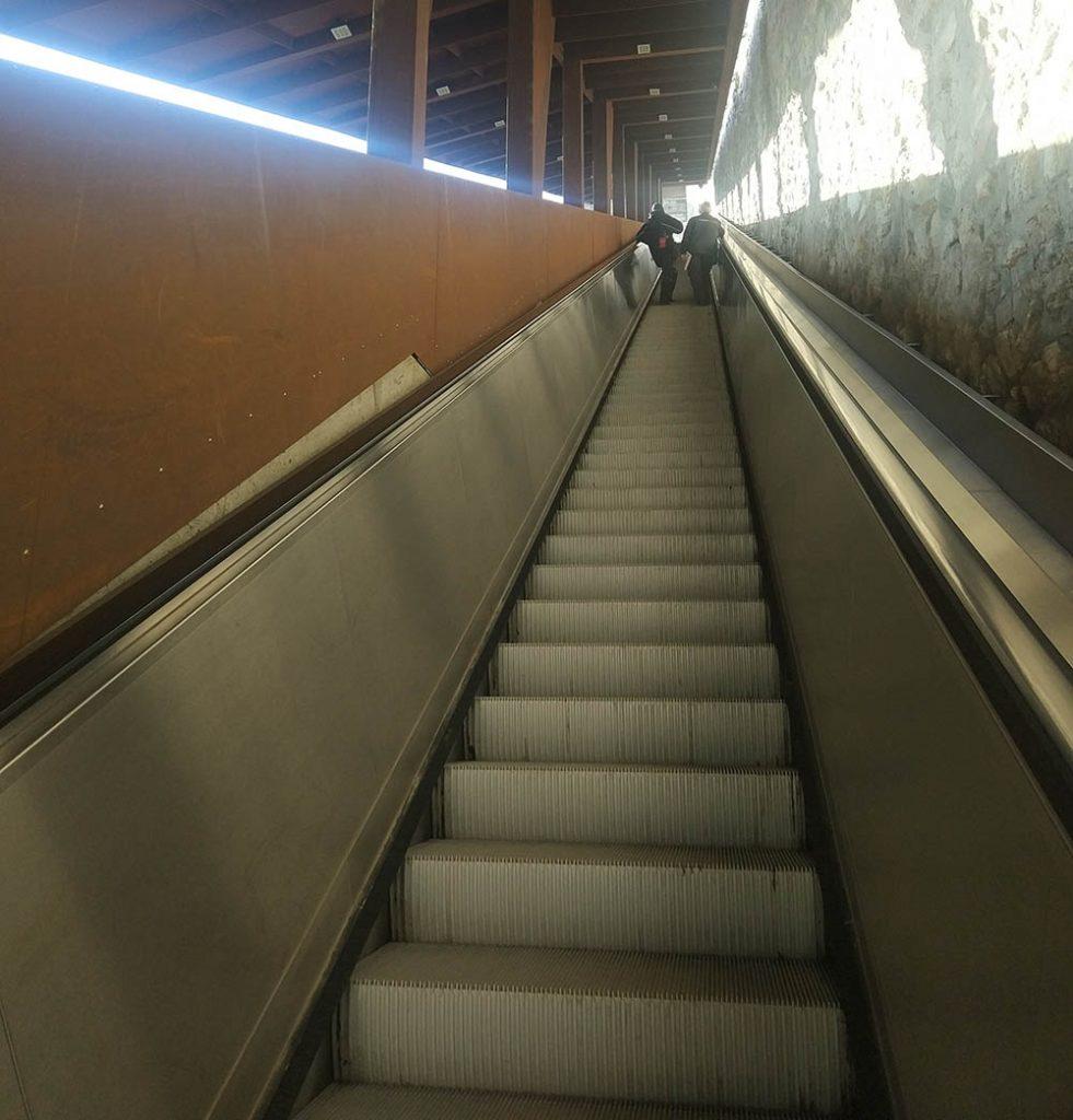 эскалатор в городе будапешт