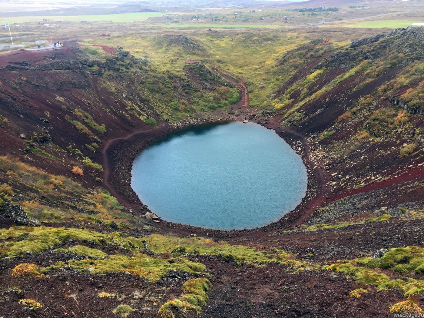 керид кратерное озеро с другой стороны
