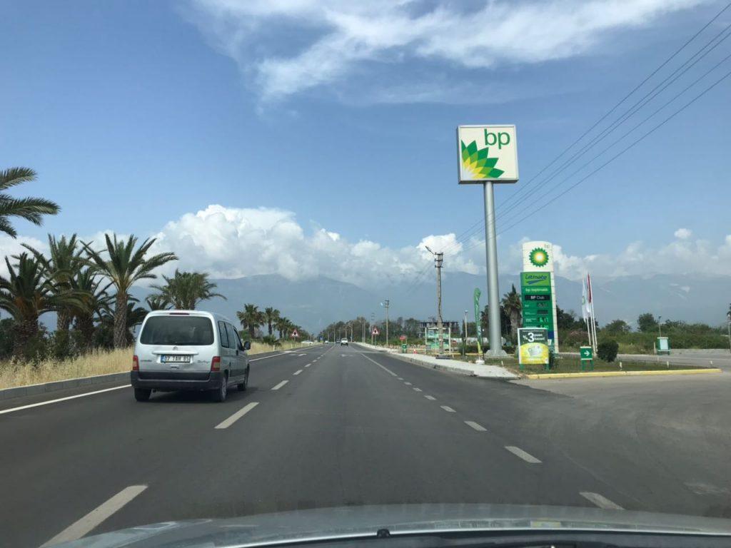 бритиш петролеум на дорогах турции