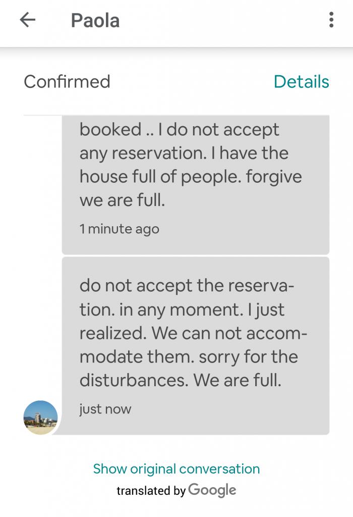 airbnb не возвращает деньги