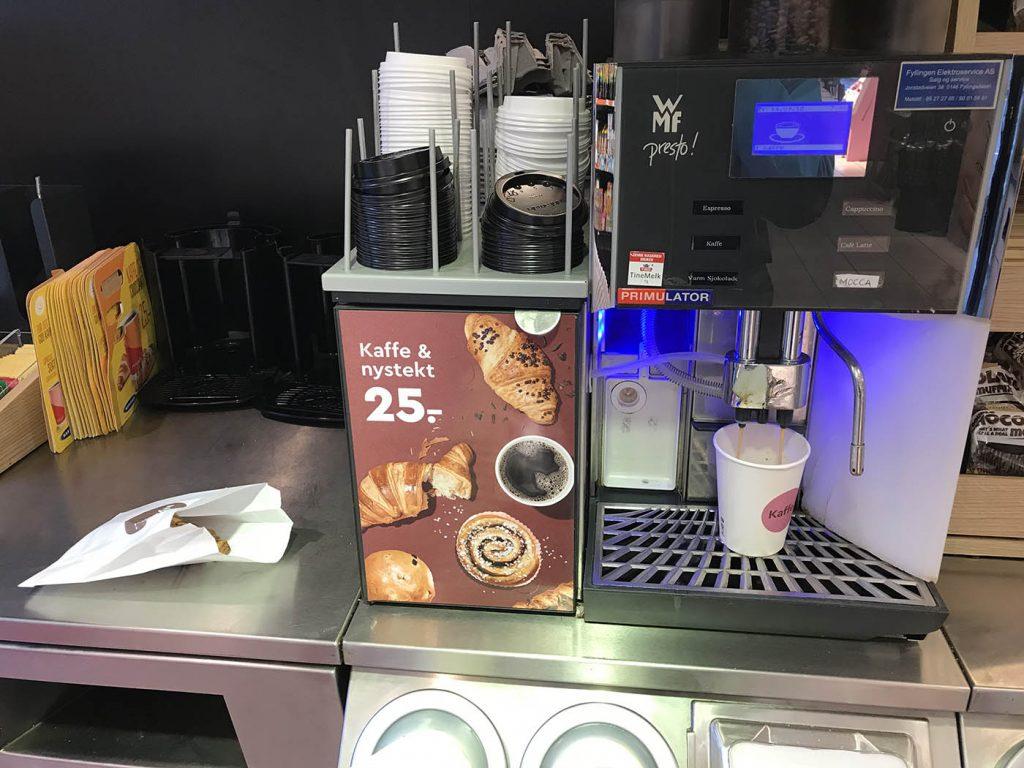 кофе и круассан в норвегии