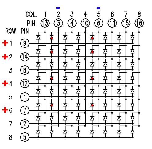 динамическая индикация матрица 8 х 8