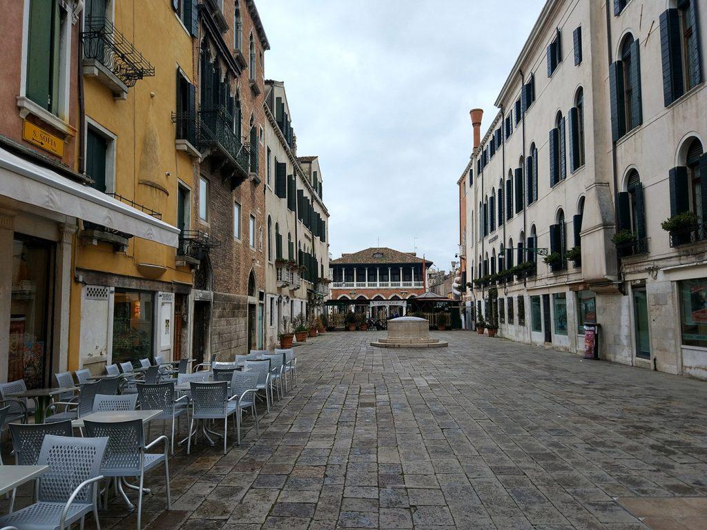венеция кафе в не-сезон