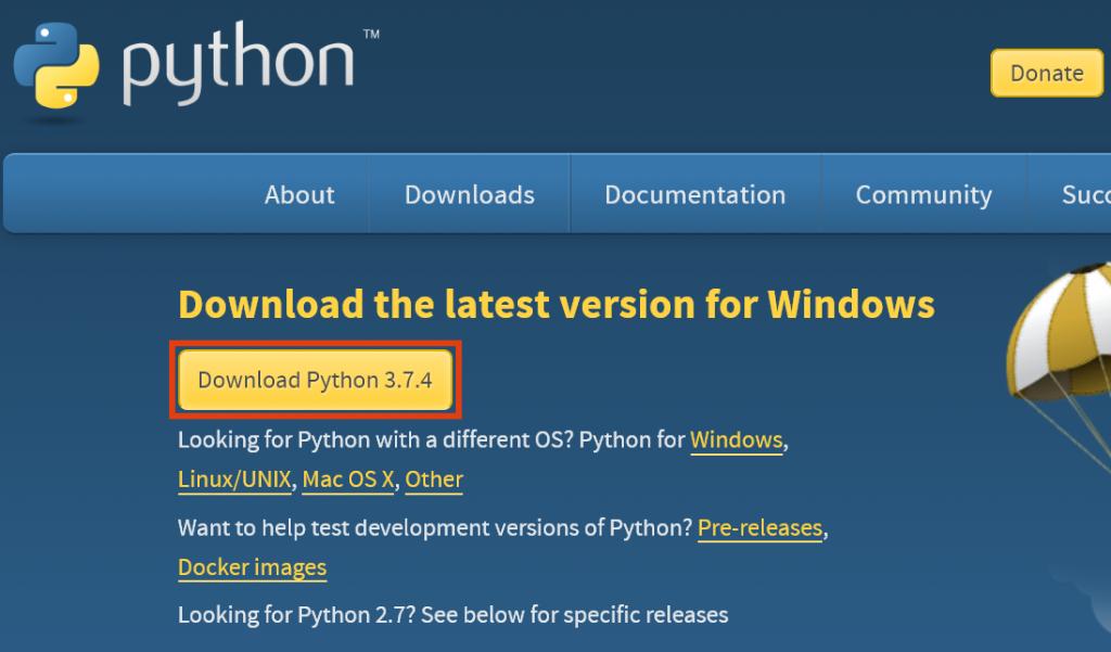python windows установка