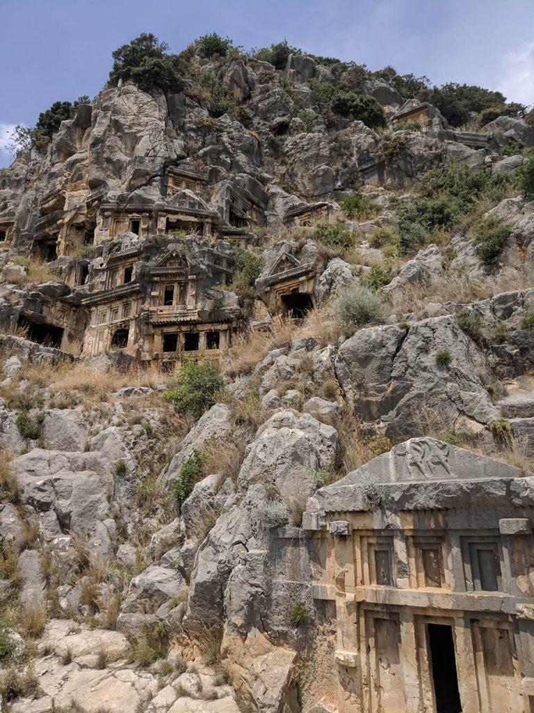 ликийские гробницы город демре
