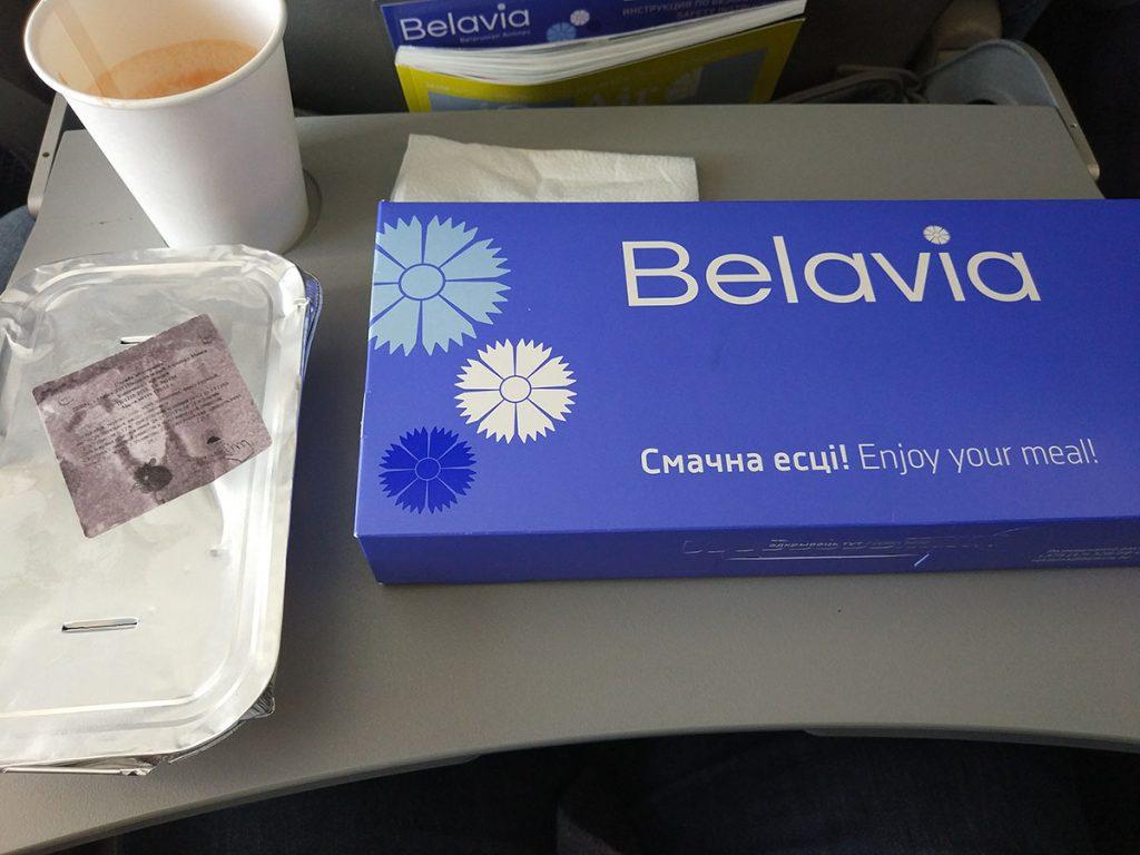 питание на борту белавиа