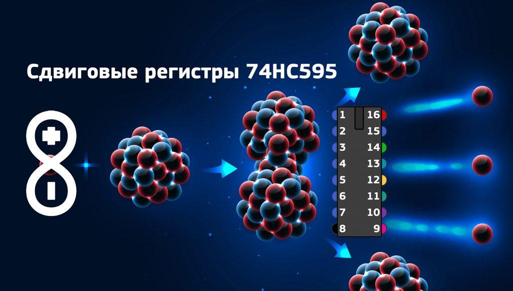 Сдвиговые регистры 75HC595 в ардуино